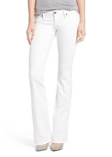 True Religion Brand Jeans 'Joey' Flap Pocket Flare Jeans (Optic White)