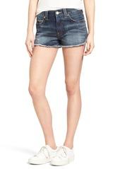 True Religion Brand Jeans Kori Cutoff Denim Boyfriend Shorts (Oceana Blue)