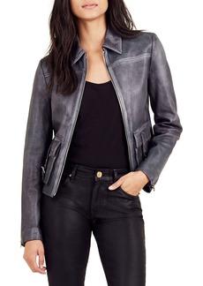True Religion Brand Jeans Leather Jacket