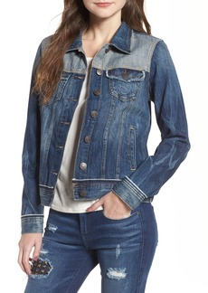 True Religion Brand Jeans Let Out Seams Denim Jacket