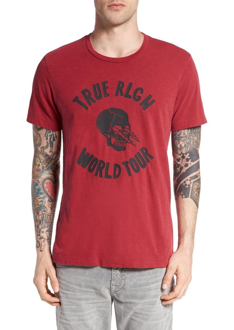 True Religion Brand Jeans Lightning Skull Graphic T-Shirt