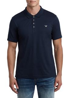 True Religion Brand Jeans Logo Detail Cotton Polo