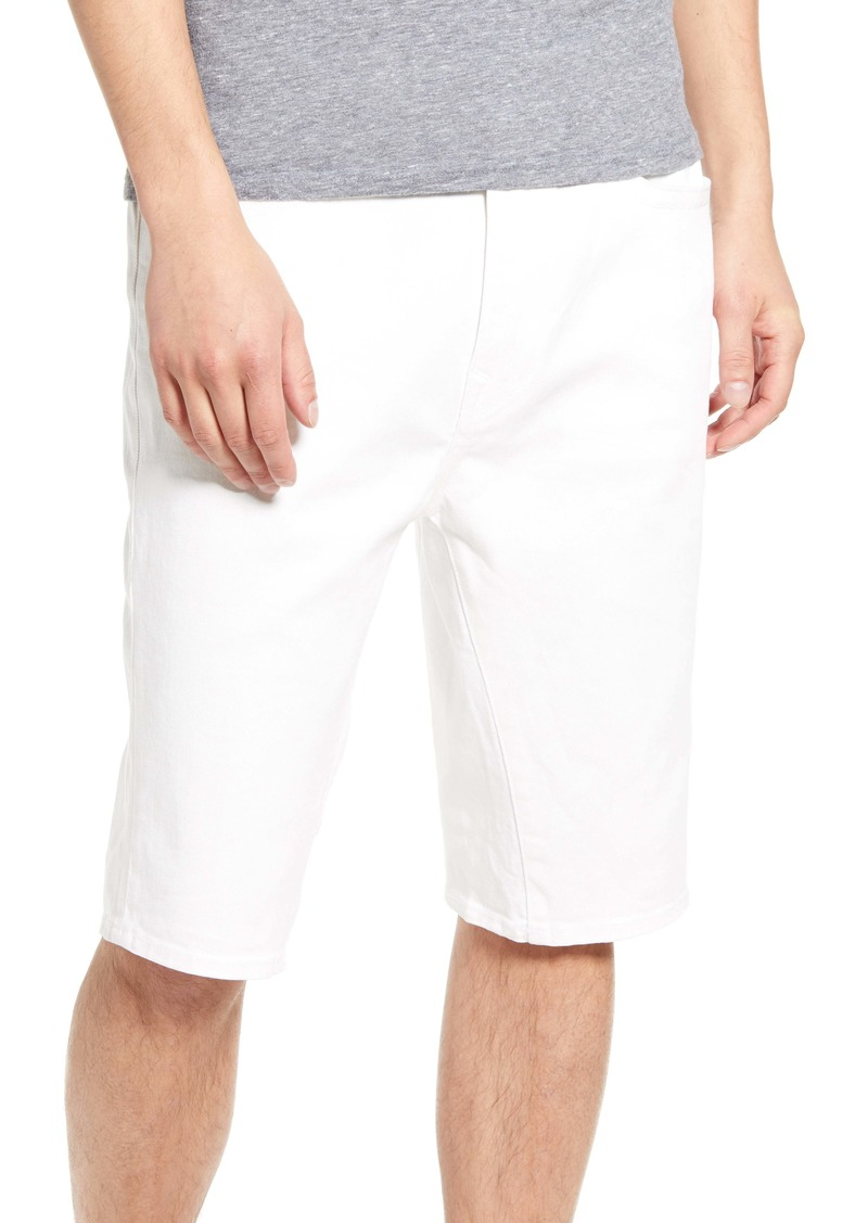 True Religion Brand Jeans Marco Denim Shorts (White Water Wash)