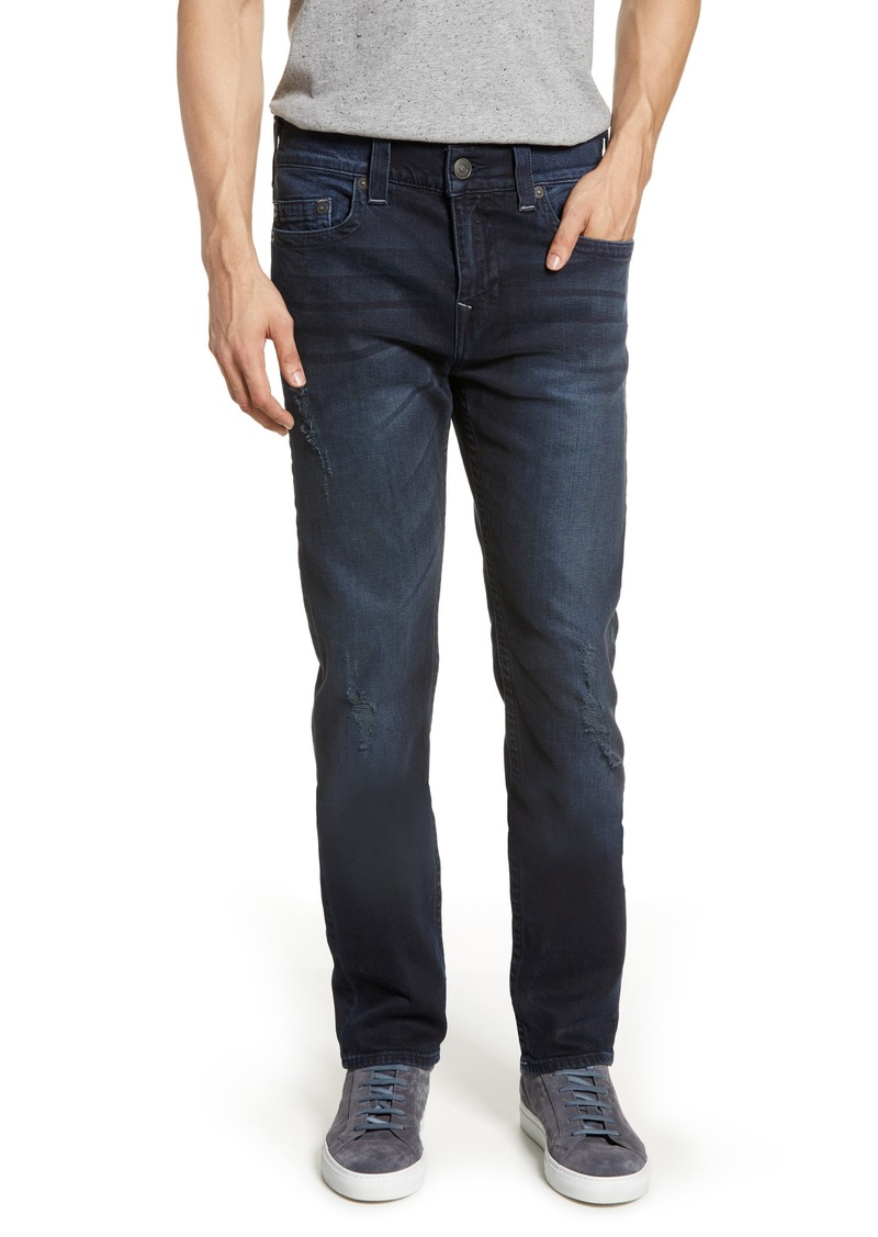 True Religion Brand Jeans Marco Tapered Slim Fit Jeans (Dark Axle)