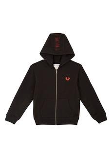 True Religion Brand Jeans Mesh Logo Hoodie (Toddler Boys & Little Boys)