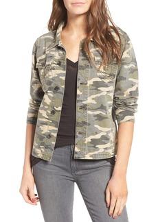 True Religion Brand Jeans Nora Denim Shirt Jacket (Vintage Camo)