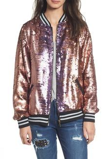 True Religion Brand Jeans Pailette Bomber Jacket