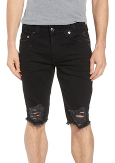 True Religion Brand Jeans Ricky Relaxed Fit Shorts (Chalkboard)