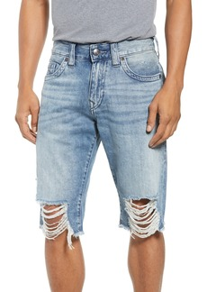 True Religion Brand Jeans Ricky Relaxed Fit Shorts (Solar Blue)