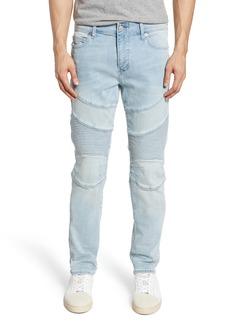 True Religion Brand Jeans Rocco Moto Skinny Fit Jeans (Silver Moon)