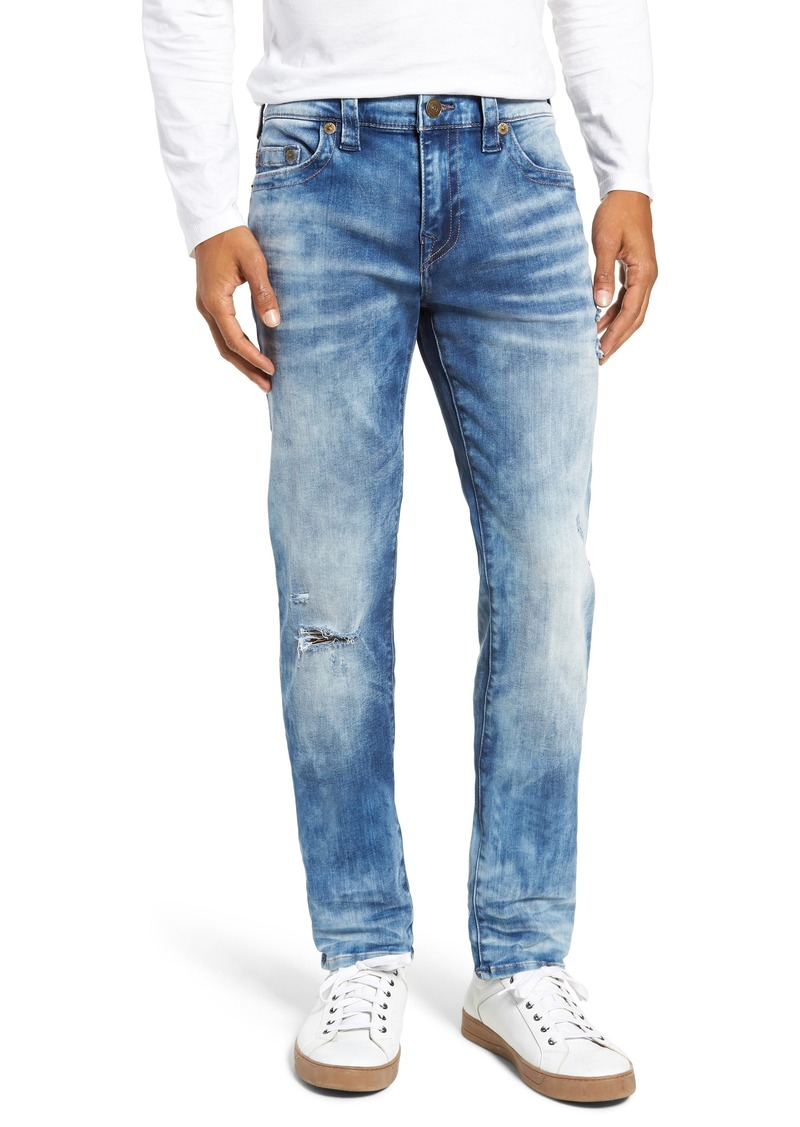 True Religion Brand Jeans Rocco Skinny Fit Jeans (Blue Riot)