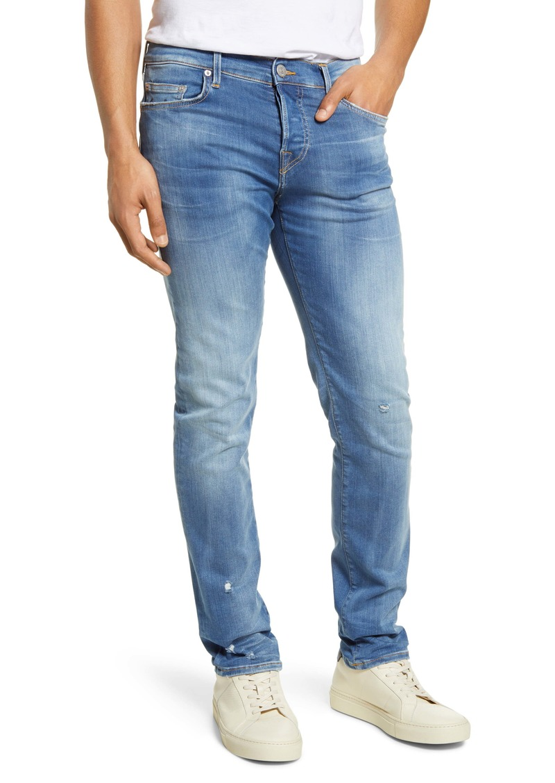 True Religion Brand Jeans Rocco Skinny Fit Jeans (Denim Blue)