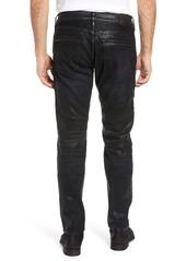 True Religion Brand Jeans Rocco Skinny Fit Moto Jeans (Flgd Boost Blue)