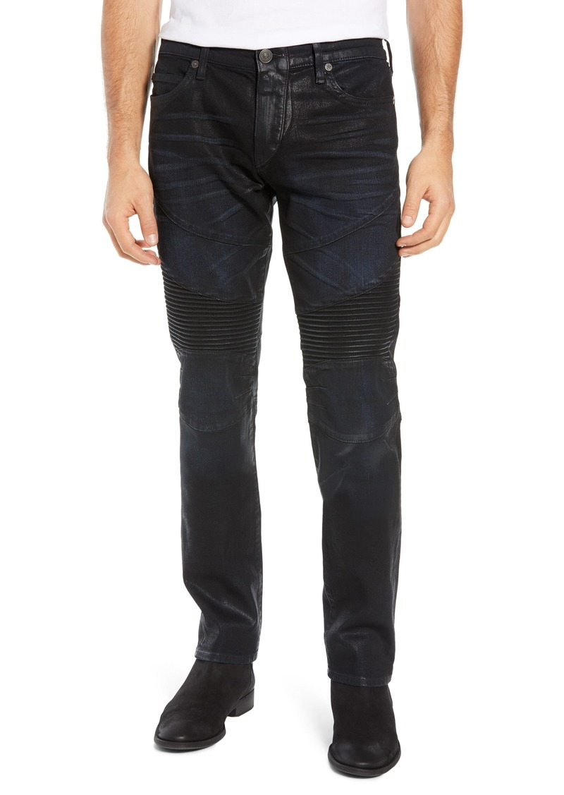True Religion Brand Jeans Rocco Skinny Fit Moto Jeans (Flgd Boost Blue)