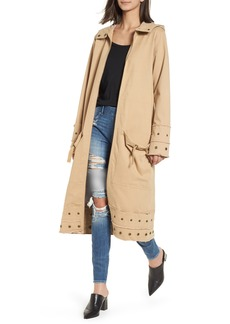True Religion Brand Jeans Snap Detail Trench Coat