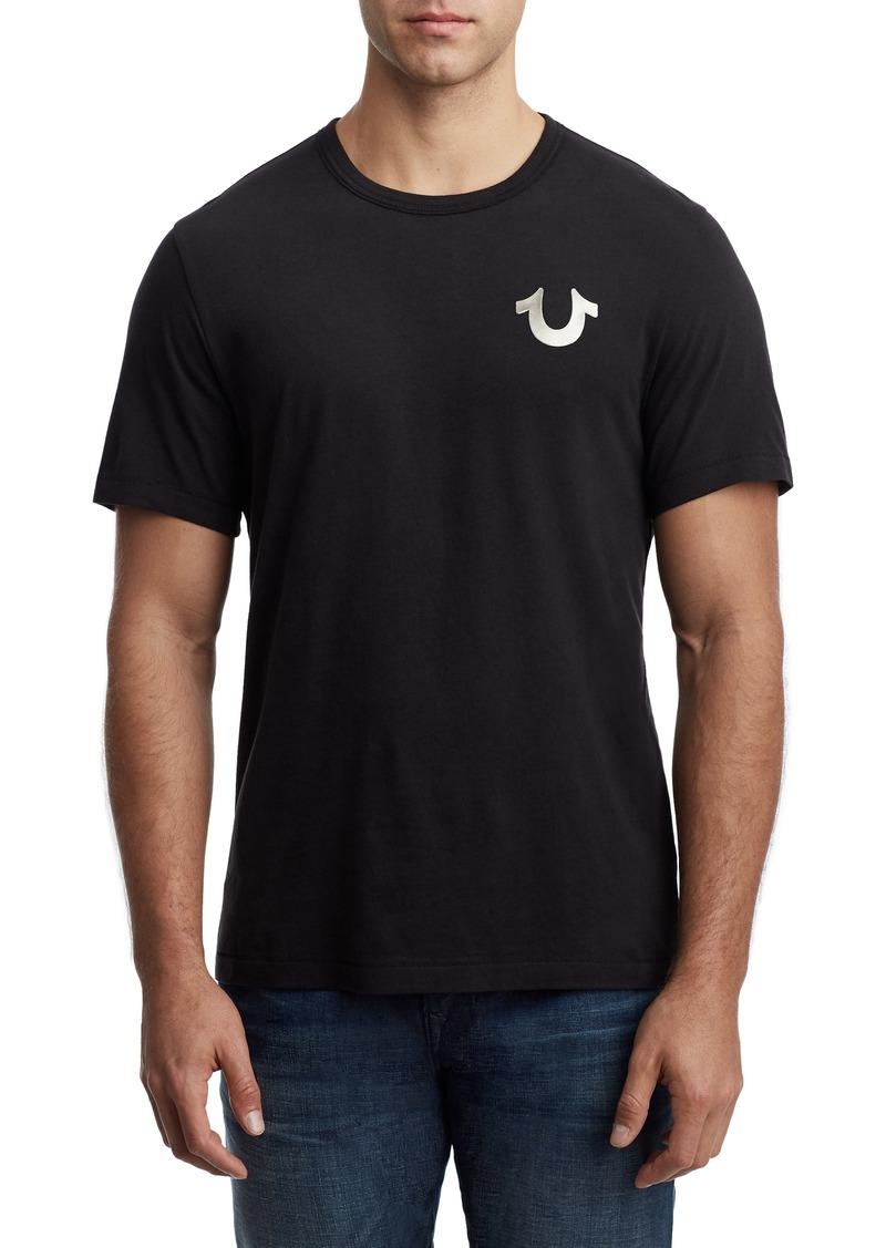 True Religion Brand Jeans Wolf Metallic Gel T-Shirt