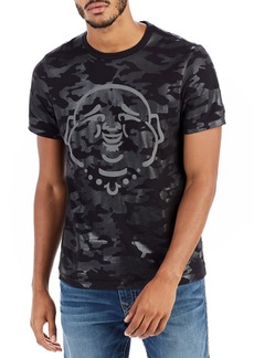 True Religion Buddha-Graphic Camouflage T-Shirt