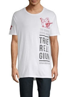 True Religion Buddha Long Cotton Tee