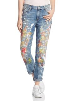 True Religion Cameron Boyfriend Jeans in Pop Art Paint