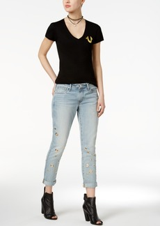 True Religion Cameron Grommet Slim Boyfriend Jeans