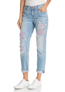 True Religion Cameron Mesh Detail Boyfriend Jeans in Second Quarter