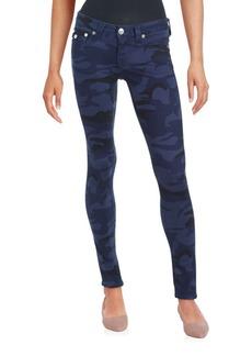 True Religion Camo Five-Pocket Skinny Jeans