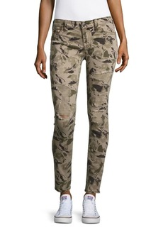 True Religion Camo-Print Distressed Jeans