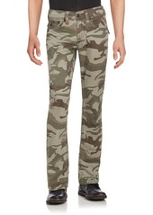 True Religion Camo Printed Five-Pocket Pants