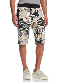 True Religion Camouflage Print Sweat Shorts