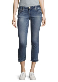 True Religion Casey Skinny-Fit Cropped Jeans