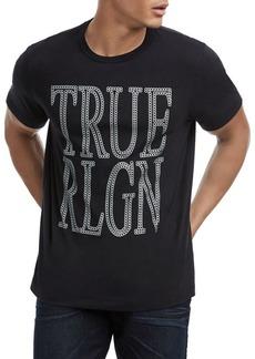 True Religion Chain Logo Cotton Tee