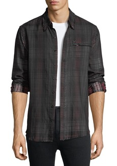 True Religion Coated Plaid Punk Shirt