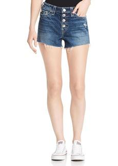 True Religion Colette Button-Fly Denim Shorts