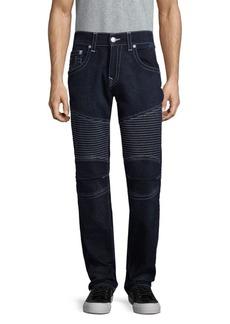 True Religion Contrast Skinny Moto Jeans