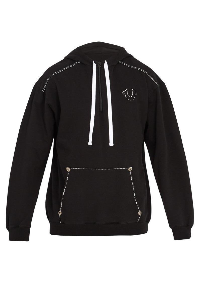7a88080b3 True Religion True Religion Contrast-stitch hooded cotton sweatshirt ...