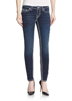 True Religion Contrast-Stitched Legging Jeans