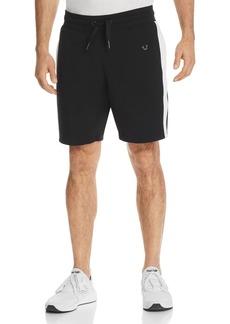 True Religion Contrast Stripe Sweat Shorts