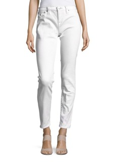 True Religion Cotton-Blend Cropped Jeans