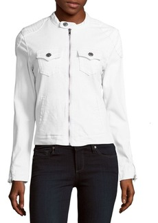 True Religion Cotton-Blend Moto Jacket