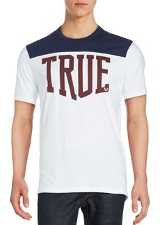 True Religion Cotton Short Sleeve Jersey Tee