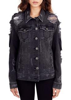 True Religion Danni Destroyed Denim Jacket