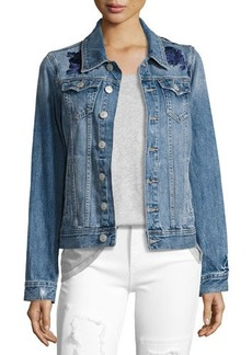 True Religion Danni Embroidered Denim Jacket
