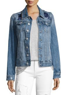 True Religion Danni Embroidered Denim Jacket