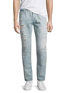 True Religion Dean Distressed Slim-Straight Jeans