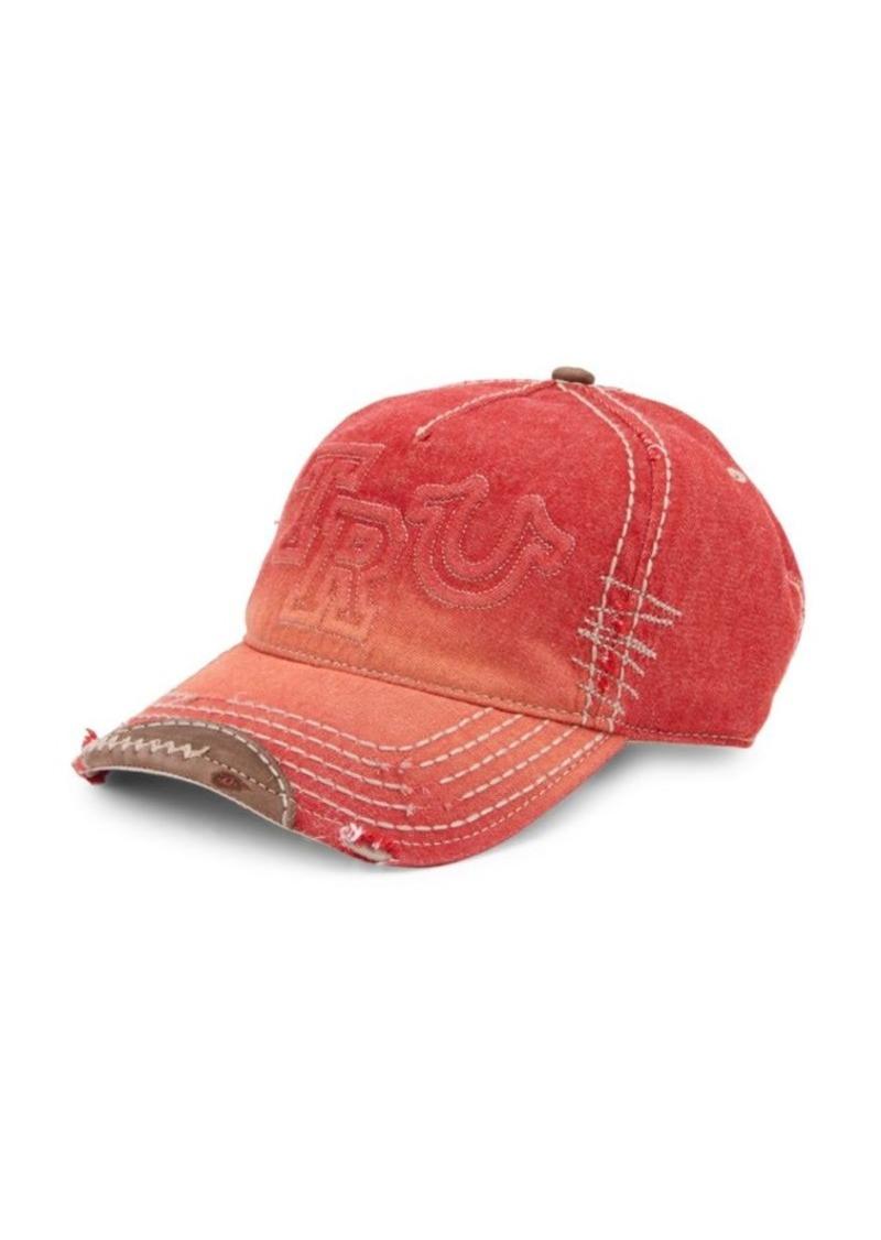True Religion Denim Cotton Baseball Cap  617a8f95ad3f