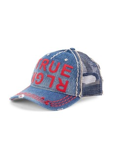 True Religion Denim Logo Baseball Cap