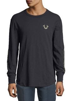 True Religion Distorted Logo Long-Sleeve T-Shirt