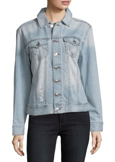 True Religion Distressed Cotton Denim Jacket