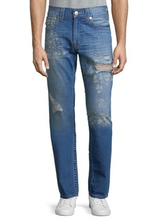 True Religion Distressed Flap-Pocket Skinny Jeans