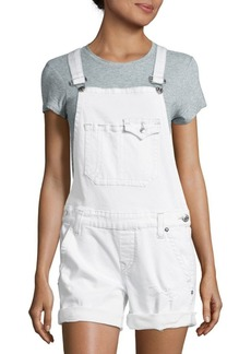 True Religion Distressed Crisscross Strap Overall